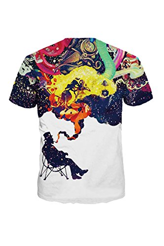 Sundray Lifelike Explosion 3d Printed Creweck Short Sleeve Tee shirt Tops