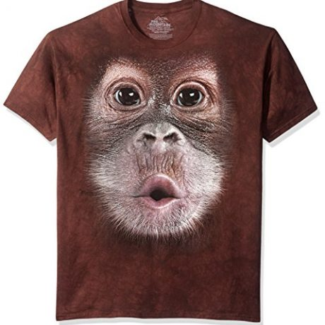 The Mountain Unisex-Adult Baby Orangutan Face Short Sleeve T-Shirt