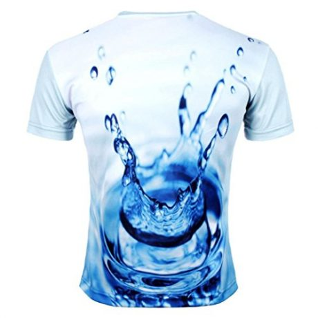 SMTSMT Men's Cool 3D Printed Water Droplets T-shirt
