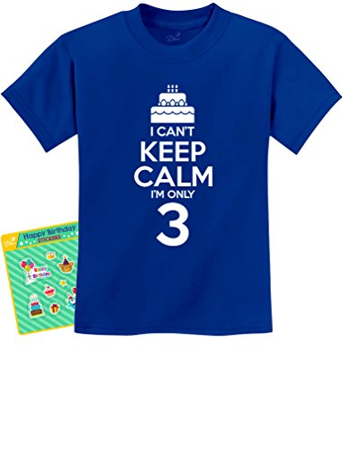 Birthday Cake – I Can't Keep Calm I'm Only 3 Children's Cute Kids T-Shirt